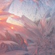 Ice patterns and morning sunlight — Stock Photo