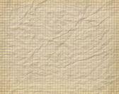 Stary zmięty papier w kratkę — Zdjęcie stockowe