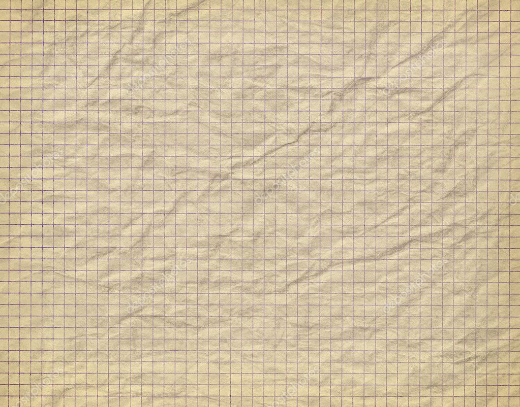 Crumpled Old Notebook Paper