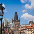 Prague. Charles Bridge in Prague  Czech Republic - Stock Photo