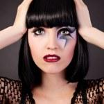 Beautiful woman with fashion makeup — Stock Photo #10792866