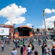 Fanzone and Palace of Culture in Kiev on June 8, 2012. Kiev will — Foto de Stock