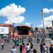 Fanzone and Palace of Culture in Kiev on June 8, 2012. Kiev will — Stockfoto