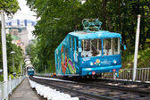 EURO 2012 RAILWAY FUNICULAR IN KIEV, UKRAINE - MAY 30 — Stock Photo