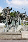 Monument of City-founders in Kiev. Ukraine — Stock Photo