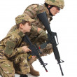 Military Father and Son — Stock Photo #11096440