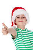 Boy dressed as Santa Claus — Stock Photo