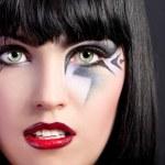 Beautiful woman with fashion makeup — Stock Photo