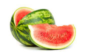 Fresh, ripe, juicy watermelon. Shot on White — Stock Photo