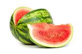 Fresh, ripe, juicy watermelon. Shot on White — Stock Photo