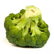 Stock Photo: Single broccoli floret isolated on white