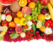 Huge group of fresh vegetables and fruits — Stock Photo #11915005