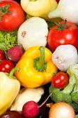 Skupina čerstvé zeleniny, izolované na bílém — Stock fotografie