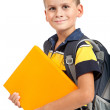 Stockfoto: Boy holding books. Back to school