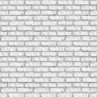 White brickwall seamless background. — Stock Photo