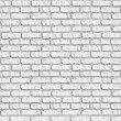Stock Photo: White brickwall seamless background.