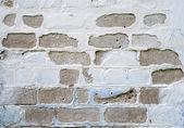White brick wall texture closeup background. — Stock Photo