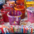 Paints in a painter's studio — Foto Stock