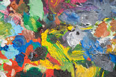 Palette with paint strokes — Stock Photo