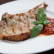 Pork chops with BBQ sauce — Foto de Stock