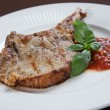 pork chops met bbq saus — Stockfoto