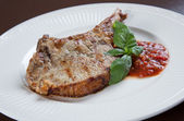 Pork chops with BBQ sauce — Стоковое фото