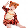 Stock Photo: Little boy in tiger costume