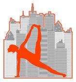 Woman yoga — Stock Vector