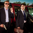Bodyguard and its boss - Stockfoto