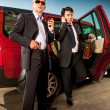 Bodyguard and its boss — Stock Photo #11042975