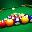 Billiard balls on green cloth — Stock Photo #11099160