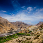 Dhankar Gompa. India. Spiti Valley — Stock Photo #11796164