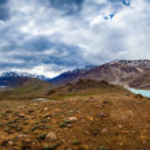 Lake Chandra Taal, Spiti Valley panorama — Stock Photo #11796325