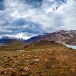 Lake Chandra Taal, Spiti Valley panorama — Stock Photo