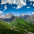 India.Mountains and clouds. — Stock Photo