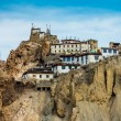 Dhankar Gompa. India. Spiti Valley - Stock Photo