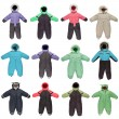 Childrens snowsuit fall and winter clothes — Stock Photo