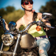 Biker girl — Stock Photo #12029233