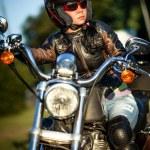 Biker girl — Stock Photo #12029238