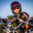 Biker girl — Stock Photo #12029243
