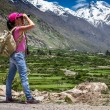 Woman traveler - Stock Photo