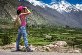 Woman traveler — Stock Photo