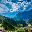 Stock Photo: India.Mountains and clouds.