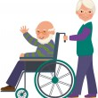 Stock Vector: Elderly couple