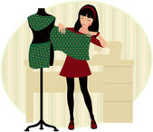 Dressmaker — Stock Vector