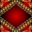 Royalty-Free Stock ベクターイメージ: An abstract gold pattern. Illustration on red background for des
