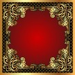 Red background frame with gold(en) pattern and net — Stock Vector #11610714