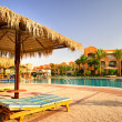 Fine egyptian resort early morning. - Stock Photo