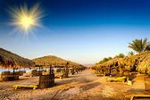 Прекрасный пляж в Египте. — Стоковое фото