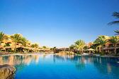 African resort, swimming pool. — Stock Photo